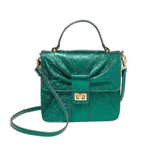 BOWTASTIC TOP HANDLE CROSSBODY GREEN